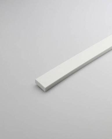 Profil plohý PVC bílý 13x1000