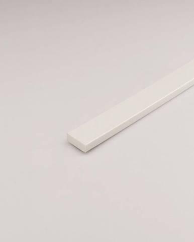 Profil plohý PVC bílý 19x1000