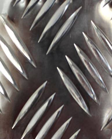 Reliéfní hliníkový plech 500x250