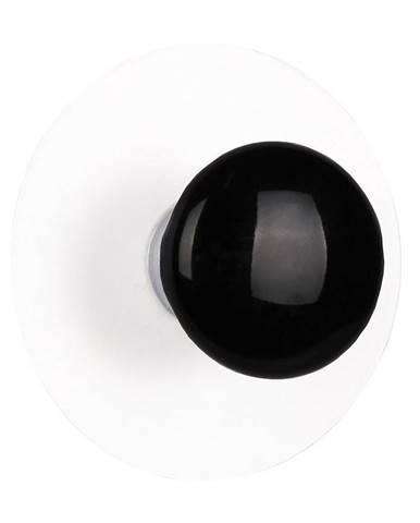 Vešiak samostatný Palla 3,75cm čierny