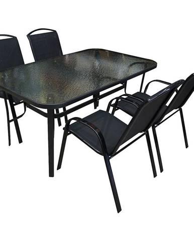 Sada skleněný stůl + 4 židle Himalaya