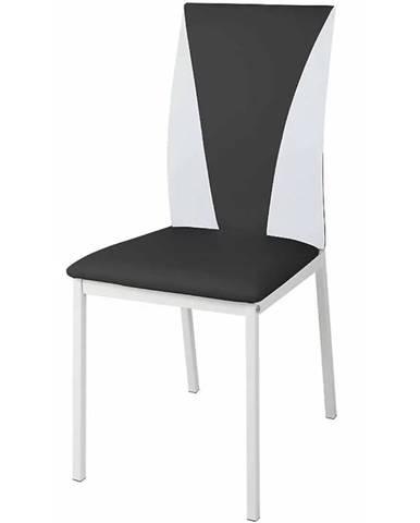 Židle Sofia Ekokůže Černá/Bílá