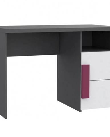 Psací Stůl Libelle 110 cm Bílý/Šedá