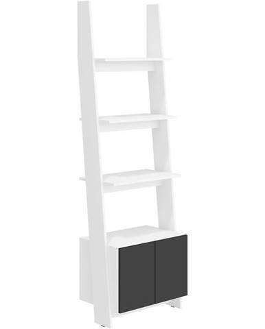 Regál Rack 60cm 1D Bílá/Černá