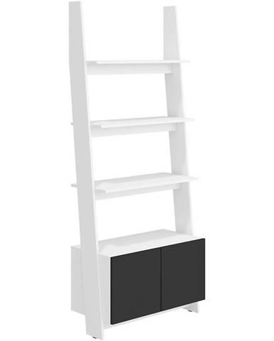 Regál Rack 80cm 1D Bílá/Černá
