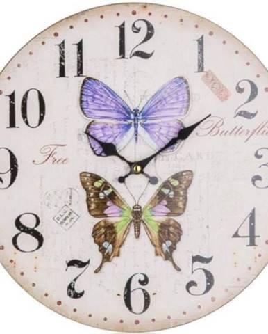 Hodiny nástenné Butterflies 34cm