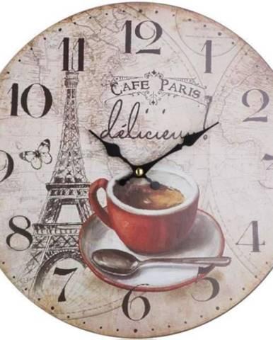 Hodiny nástenné Cafe Paris 34cm