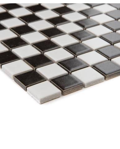 Mozaika schwarz weiss 65523 30,2x30,2x0,4