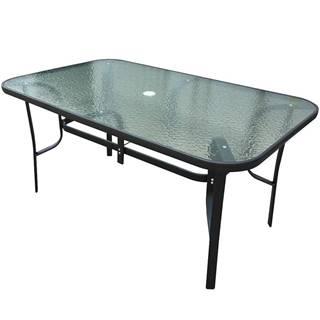 Skleněný stůl s otvorem 150x90x70 cm černá