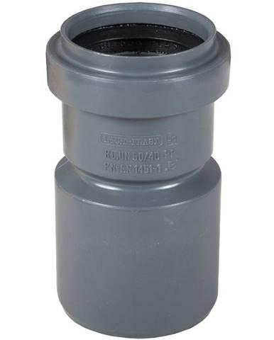 Redukce šedá 50/40 mm