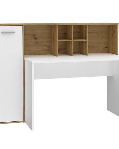 BAUMAX Psací Stůl Bolitarr 158cm Dub Artisan/Bílý