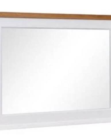 Zrcadlo Galia 97cm Bílý/Dub Příroda