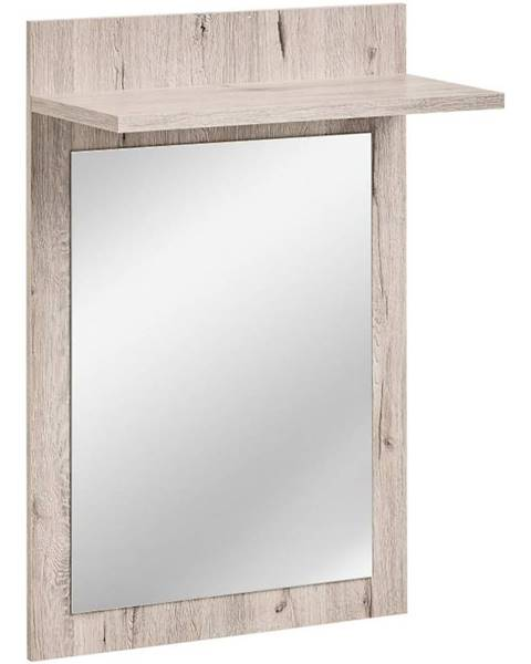 BAUMAX Zrcadlo  Gustavo Typ E Wellington/Bílý Lesk Dww Gv Typ E