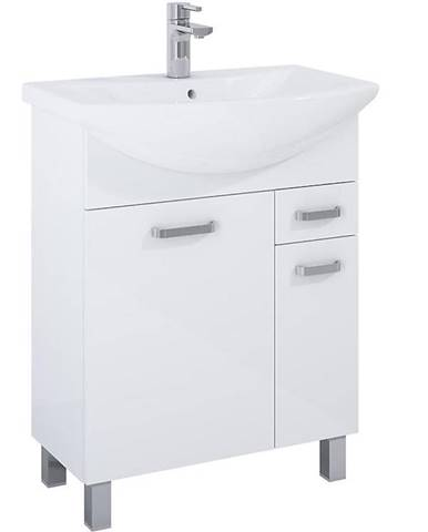Skříňka s umyvadlem bílá Uno 1D1S 55