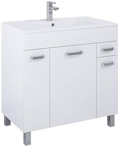 Skříňka s umyvadlem bílá Uno 3D1S 80