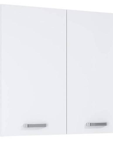 Závěsná skříňka bílá Uno 2D0S 80