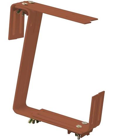 Držák truhlíků, dvojitý, terakota 19x17cm