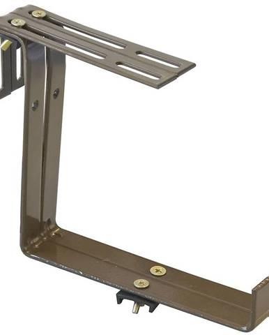 Držák truhlíků, jednoduchý, hnědý 15x15cm