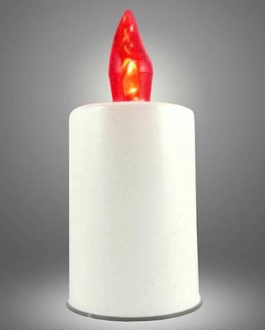 LED svíčka - červená plamen