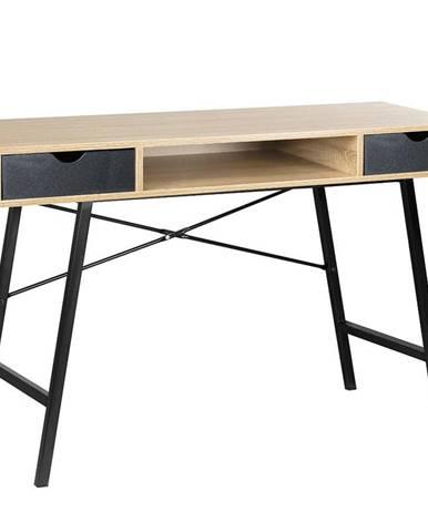 Psací Stůl Loft 120cm Dub Sonoma/Černá