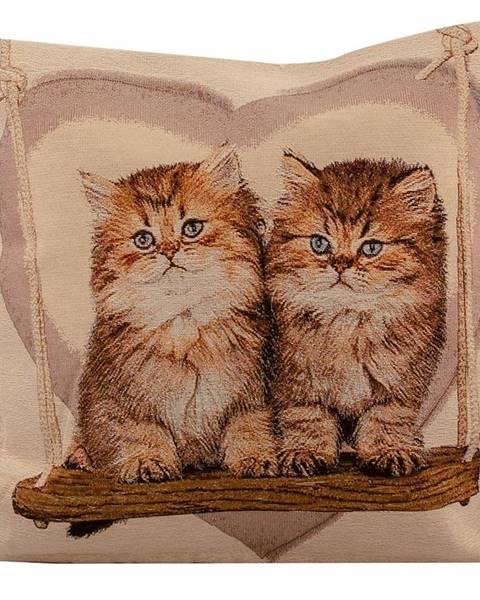 VESNA Povlak na polštář 45x45 gobelín kočka 6