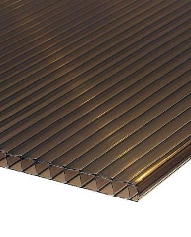 Polykarbonátová deska 2000 x 1050 x 10 mm hnědá