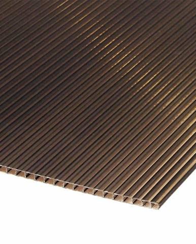 Polykarbonátová deska 2000 x 1050 x 4 mm hnědá