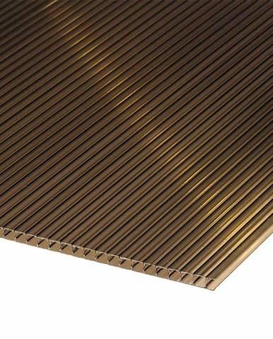 Polykarbonátová deska 2000 x 1050 x 6 mm hnědá