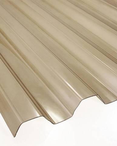 Trapézová deska PVC 2000 x 900 x 0,8 mm kouřová