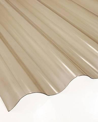 Vlnitá deska PVC 2000 x 900 x 0,8 mm kouřová