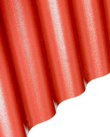 Vlnitá deska PVC 2000 x 900 x 1 mm červená