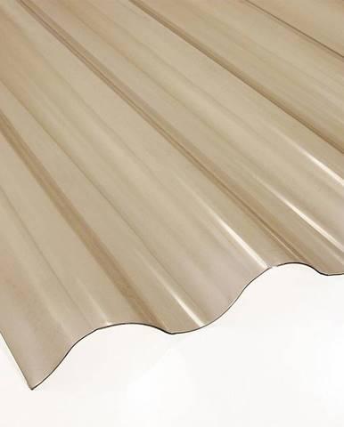 Vlnitá deska PVC 2500 x 900 x 0,8 mm kouřová