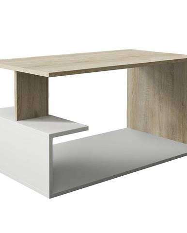 Konferenční stolek Dante Dub Sonoma/Bílý