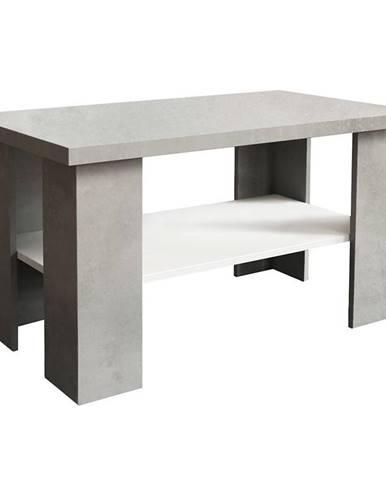 Konferenční stolek Olga Beton/Bílý