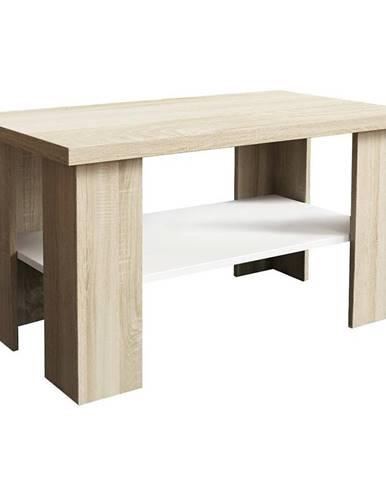 Konferenční stolek Olga Bílý/Dub Sonoma
