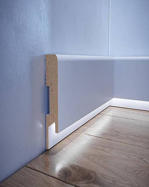 Foge Podlahová lišta MDF Foge LED LB1 bílá polmat