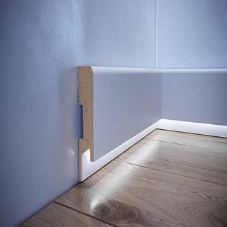 Podlahová lišta MDF Foge LED LB1 bílá polmat