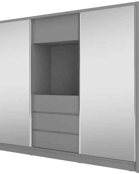 BAUMAX Skříň Tv 250cm Grafit/Zrcadlo
