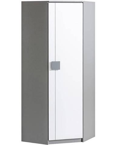 Rohova Skříň Gumi G7 71cm Bílý Bryl/Antracyt