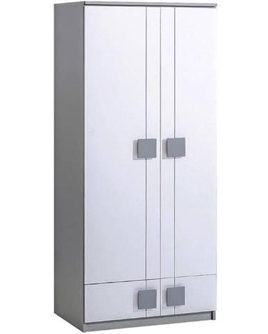 Skříň Gumi G1 80cm Bílý Bryl/Antracyt