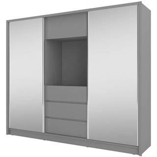 Skříň Tv 250cm Grafit/Zrcadlo