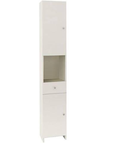 Vysoká skříňka bílá Bratislava 2D1S 32