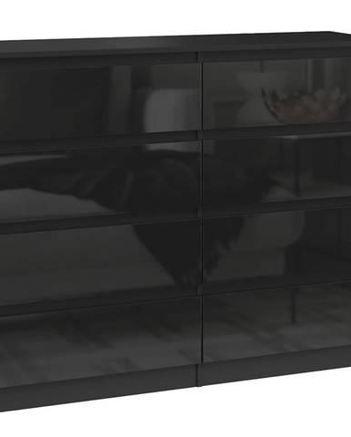 Komoda Malwa M8 120 Černý/Černý Lesk