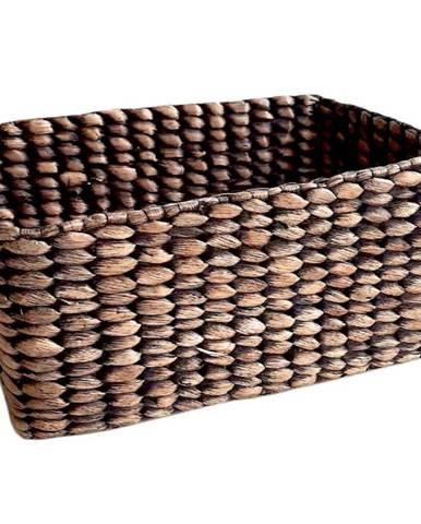 Košík Water hyacinth bez stélky hnědý