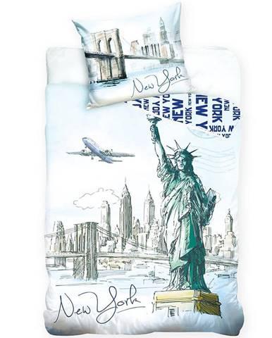 Povlečení bavlna 70x90/140x200 New York Statue