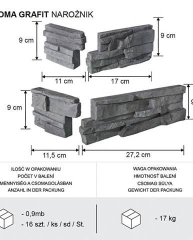 ROHOVÝ KÁMEN ROMA GRAFIT BAL=0,9mb