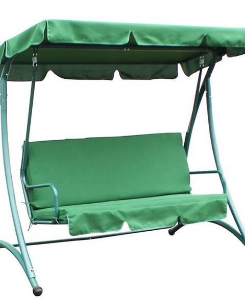 BAUMAX Houpačka s polštářem 193x120x167 zelený