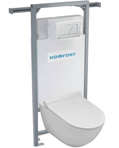 Alcaplast podomítkový set pro komfort C202 +tlačítko +WC mísa závěsná rimless se sedatkem soft close