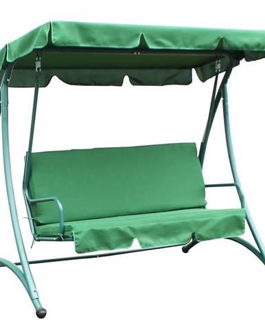 Houpačka s polštářem 193x120x167 zelený