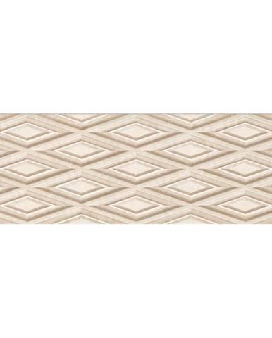 Nástěnný obklad Tiber XL beige rekt. 25/75